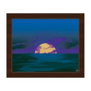 Cobalt Star Seascape Framed Canvas Wall Art Print