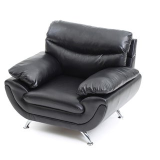 LYKE Home Contemporary Faux Leather Chair