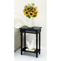 Urban Designs California Collection Wood Black Rectangular Side Table