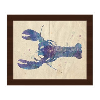 Colorful Lobster Framed Canvas Wall Art Print