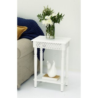 Urban Designs California Collection Wood White Rectangular Side Table