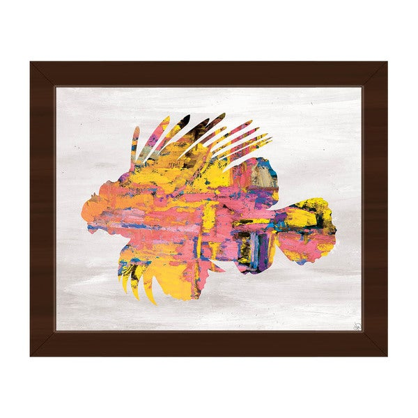 Colorful Lion Fish Framed Canvas Wall Art Print