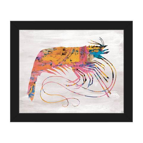 Colorful Whip Shrimp Framed Canvas Wall Art Print