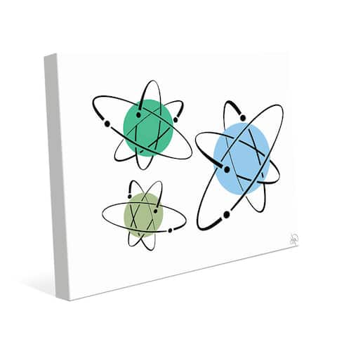 Cooler Atoms Astrobursts Wall Art Print on Canvas