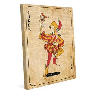 Vintage Joker Playing Card Wall Art Canvas Print