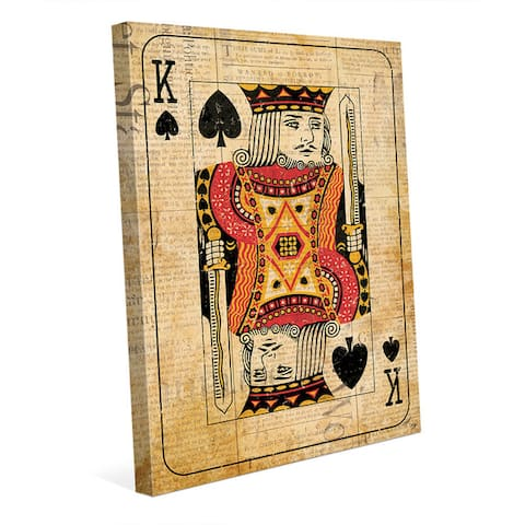 Vintage King Playing Card Wall Art Canvas Print