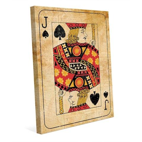 Vintage Jack Playing Card Wall Art Canvas Print
