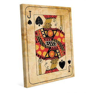 Vintage Jack Playing Card Wall Art Canvas Print