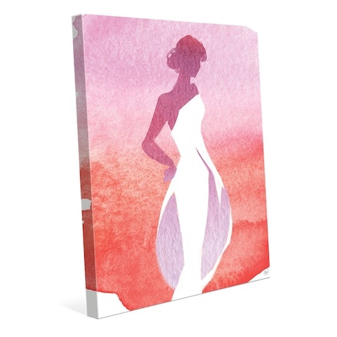 Carmine Silhouette Painting Wall Art Canvas Print