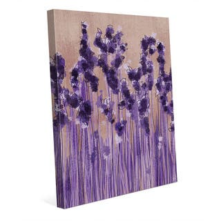 Lavender Blossoms in a Row Wall Art Canvas Print