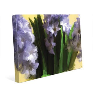 Vase of Hyacinth Flowers Wall Art Print on Canvas