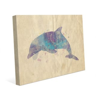 Dolphin Watercolor Wall Art Print on Canvas