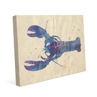 Colorful Watercolor Lobster Wall Art on Canvas