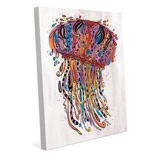 Colorful Wild Jellyfish Wall Art Print on Canvas