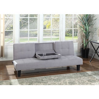 Best Master Furniture 451 Contemporary Grey Suede Adjustable Sofa Bed Futon