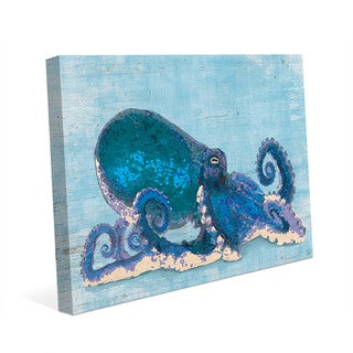 Dat Cool Blue Octopus Wall Art Print on Canvas
