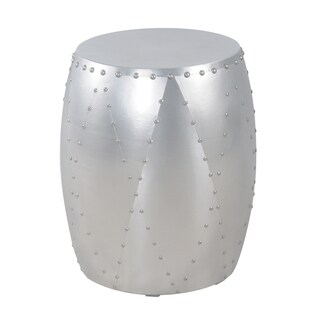 "Nada 14"" Hammered Aluminum End Table"