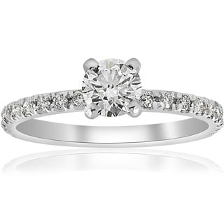 14k White Gold 3 4 Ct TDW Diamond Engagement Ring I J I2 I3