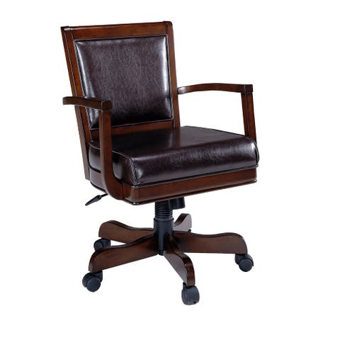 Hillsdale Furniture Ambassador Caster Game Chair in Rich Cherry Finish
