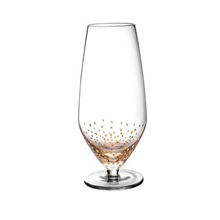 Gold Luster Prosecco Wine Glasses - Set of 4