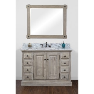 Rustic Style 48 inch Single Sink Bathroom Vanity with Carrera White Top