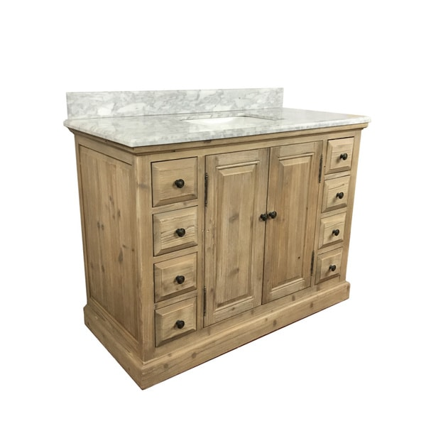 Shop Rustic Style 48 inch Single Sink Bathroom Vanity with ...