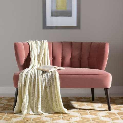 Becca Tufted Channel Back Settee Loveseat by Jennifer Taylor Home