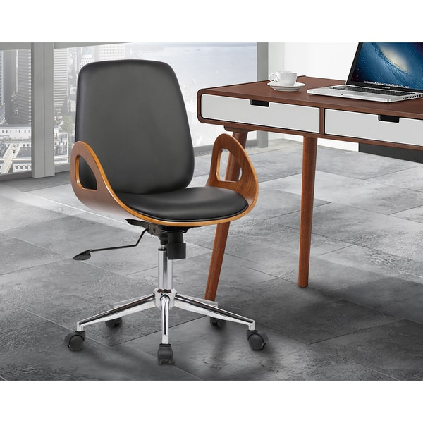 Shop Armen Living Wallace Mid Century Office Chair In
