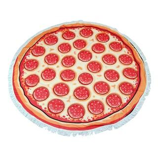 Pizza 60-inch Round Beach Towel