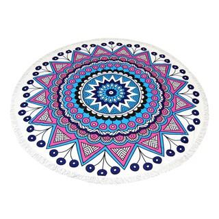 Pink Mandala 60-inch Round Beach Towel