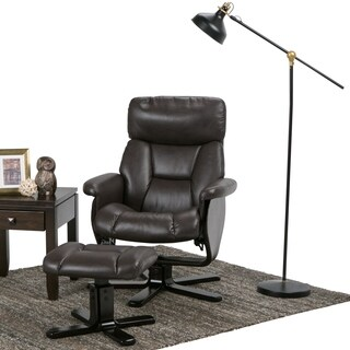 WYNDENHALL Traverse Euro Recliner with Ottoman