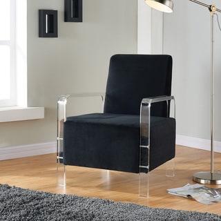 Torez Velvet and Acrylic Accent Chair