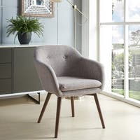 Minto-Mid Century Textured Fabric Side Chair