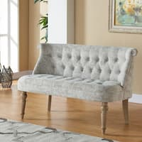 Malika-Fabric Button tufted Settee