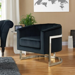 Tarra Velvet/Chrome Accent Chair