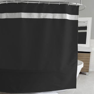 Glam Fabric Shower Curtain and Hooks Set or Separates