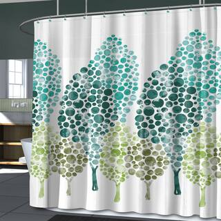 mint green shower curtain fabric. Dasos Fabric Shower Curtain and Hooks Set or Separates Green Curtains For Less  Overstock com Vibrant