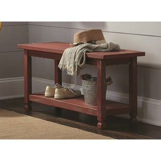 Country Cottage Entryway Bench