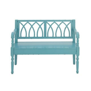 Exclusive Wooden Bench, Blue