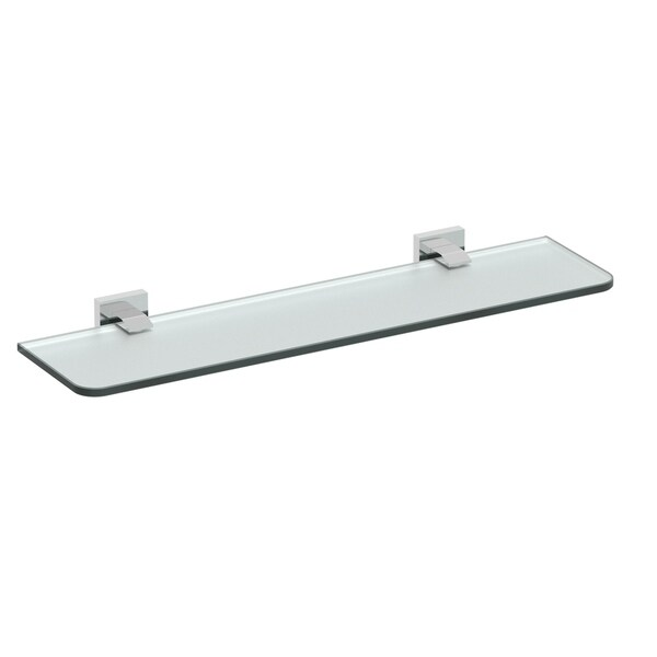 Shop Eviva Klim Glass Shelf Wall Mount Brushed Nickel Bathroom