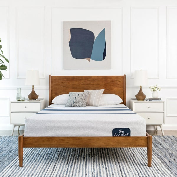 shop serta icomfort blue 100 10 inch full size memory foam mattress free shipping today. Black Bedroom Furniture Sets. Home Design Ideas