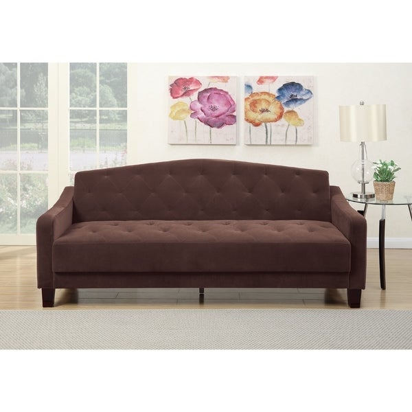 Epson Foam/Velvet/Wood Adjustable Sleeper Sofa