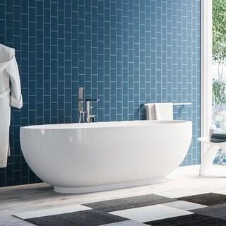 "Maykke 71"" Clara Freestanding Bathtub"