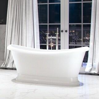 """Maykke 66"""" Evelyn Freestanding Bathtub"""