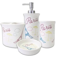 Bonjour Paris 4-piece Bath Accessory Set or Separates