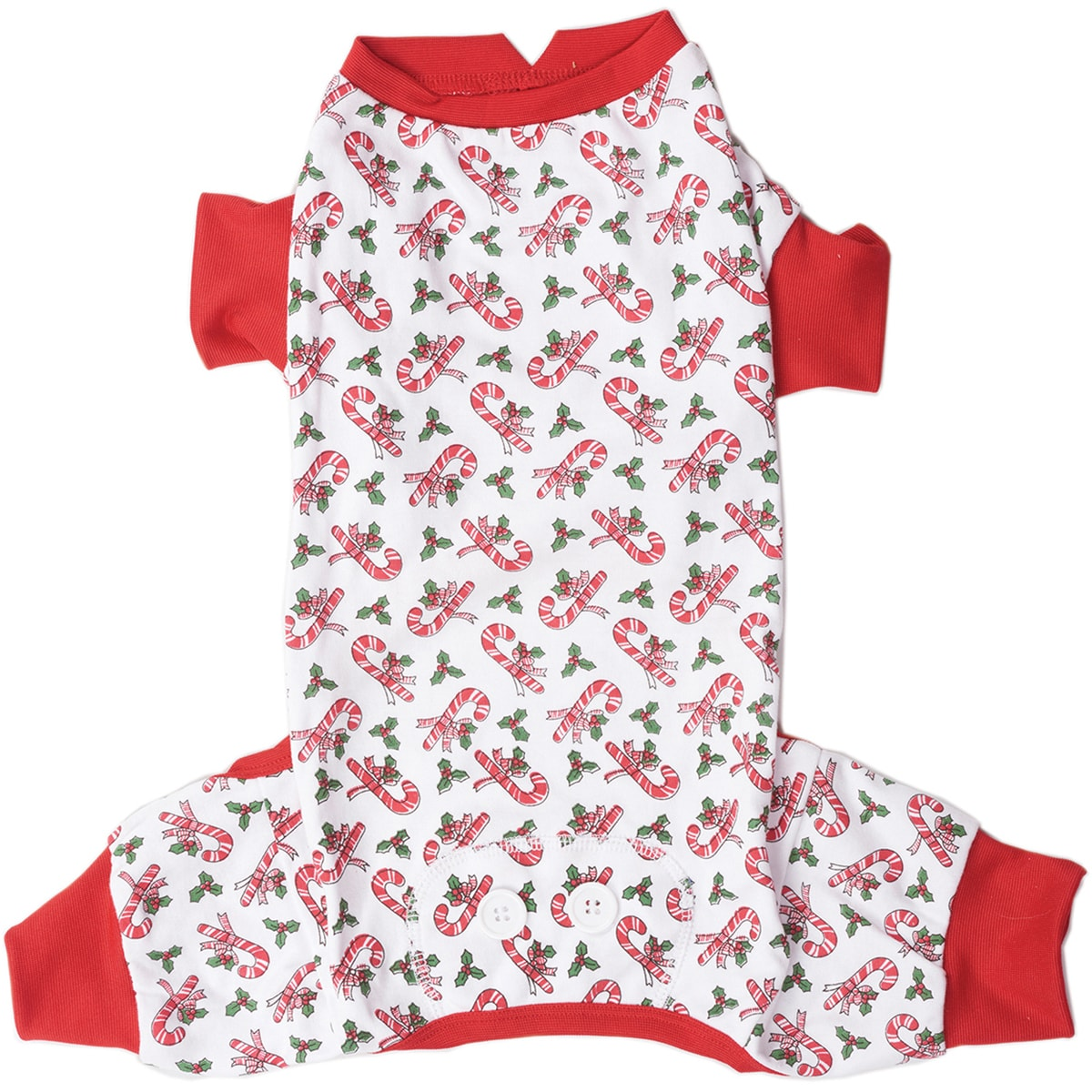 Ethical Pets Candy Cane Dog Pajamas (Small), Multi, Size S