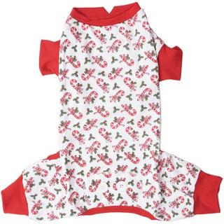 Candy Cane Dog Pajamas