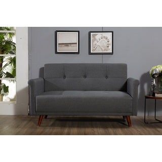 "Scully Modern Linen Fabric Button-tufted Upholstered Loveseat - 29""h x 60""w x 37.7""d"