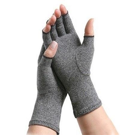 Arthritis Therapy Compression Gloves, Brown, Size 4 inche...