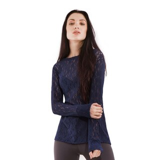 Blubrry Women's Long Sleeves Lace Top